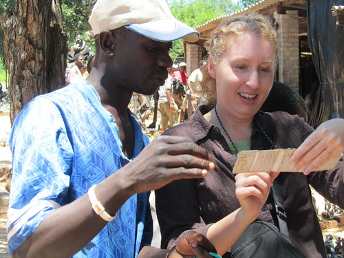 Negotiating for Earrings at the Victoria Falls Open Market
