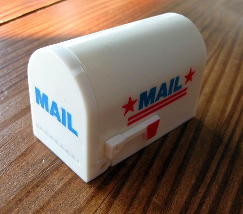Mini mailbox stamp dispenser