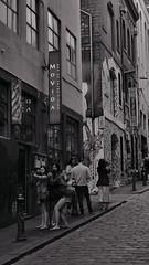 Urban Melbourne (The Globetrotting photographer) Tags: street city urban blackandwhite photography downtown streetphotography australia melbourne funky scene victoria lane lanes oceania 2011 urbanmelbourne lifeinmelbourne