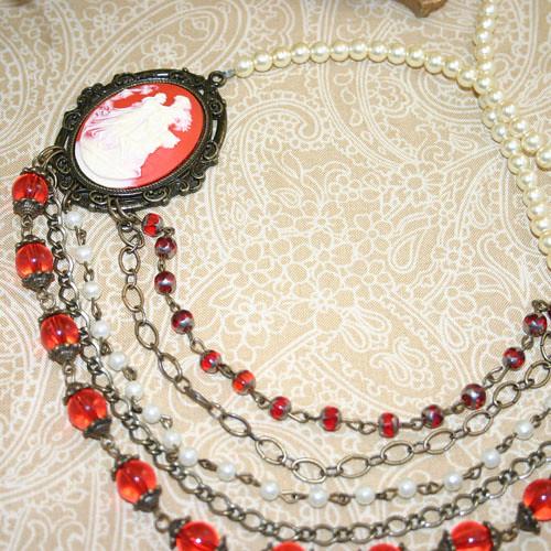 Vintage Look Statement Necklace