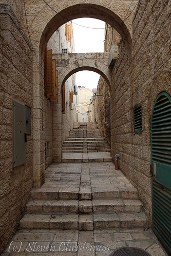 Jerusalem Street with Stairs [C_029200]