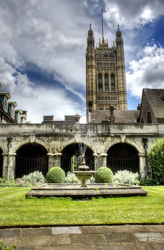 Westminster Abbey Patio. Londo. Patio de la abadía de Westminster