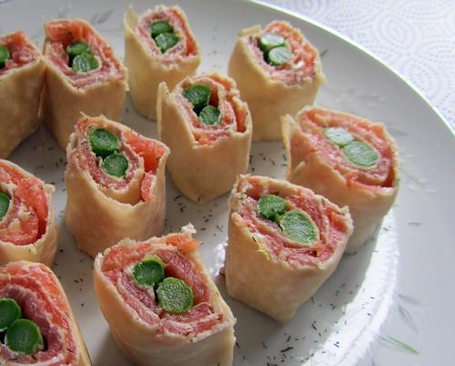 Smoked Salmon & Asparagus Canapes