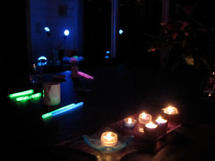candles and glowsticks