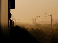 Last leg of the journey.... (Jay fotografia) Tags: railroad india mist sunny trains chennai trainspotting newdelhi indianrailways irfca southernrailways tamilnaduexpress jayasankarmadhavadas