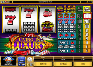 Living in Luxury slot game online review