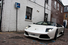 Roadster. (Alex Penfold) Tags: street camera white london cars alex sports car canon photography spider photo cool italian shot image south awesome picture fast convertible super spot 71 spyder exotic photograph lp pearl kensington lamborghini mews supercar spotting numberplate exotica bh steaming supercars roadster murcielago penfold 640 spotter 2011 lp640 450d hpyer 71bh