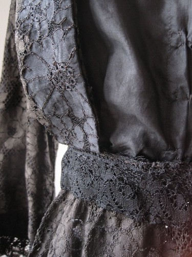 Victorian Mourning Dress Closeup