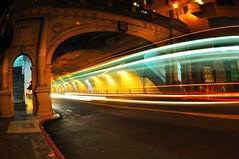 stockton tunnel (hep) Tags: sf sanfrancisco longexposure bus tunnel headlights fisheye muni stockton stocktontunnel
