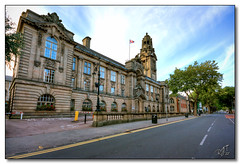 Walsall Council House (rjt208) Tags: road street uk trees england tower english heritage town industrial library flag historic belltower council townhall british westmidlands walsall towncentre councilhouse lichfieldstreet canon400d rjt208