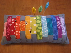 Scrappy Pincushion Swap 3 (Michelle @ i like orange.) Tags: rainbow fmf scrappypincushionswap rainbowpincushion