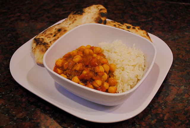 Chana Masala and Naan