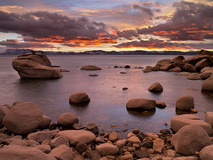 Impasto (2011) (Hark Lee Photography) Tags: california longexposure sunset nevada laketahoe bayarea afterglow winterstorm sandharbor bonsairock harklee pentax645d