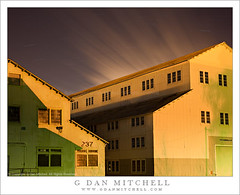 Yellow Buildings, Shadows, Moving Clouds (G Dan Mitchell) Tags: california street windows roof shadow usa cloud motion green metal shop architecture night barn yard island photography star industrial mare factory ship stock trails historic northamerica rays streaks naval vallejo corrugated 237 575 nocturnes connolly minsy nocturnes110226