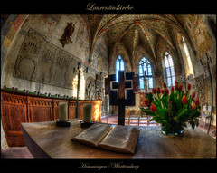 St Laurentius Hemmingen (Kemoauc) Tags: church photoshop nikon kirche fisheye hdr topaz d90 photomatix hemmingen nikond90 hdrterrorist kemoauc