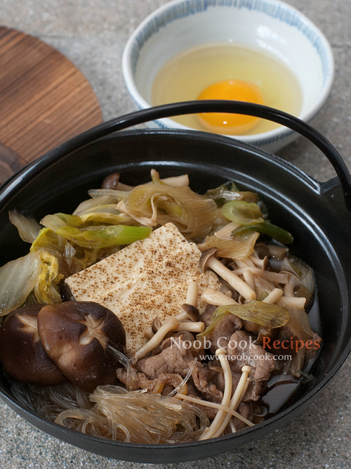 Traditional Sukiyaki (Japanese Beef Hot Pot) Recipe — Dishmaps