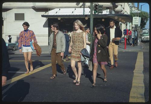 Hippies at Haight and Masonic - San Francisco, California
