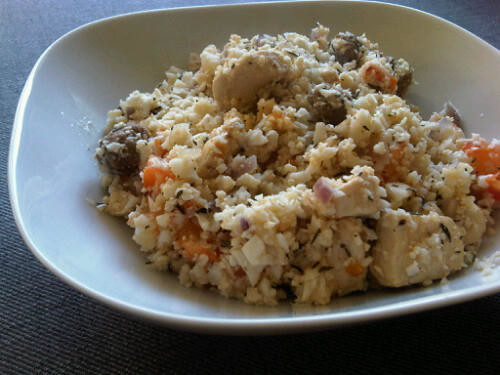 Chicken and sausage rice