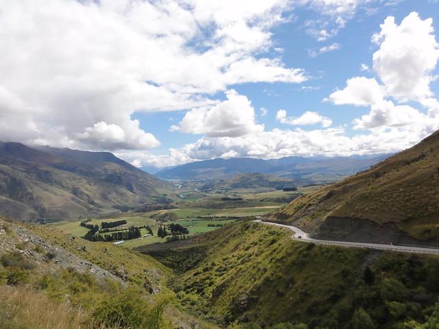 uitzicht vanaf Crown Range