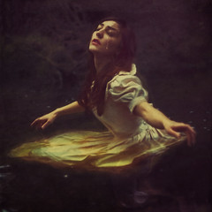 the way to spoiled dreams (brookeshaden) Tags: painterly water fairytale lost dress tear wading searching brookeshaden texturebylesbrumes