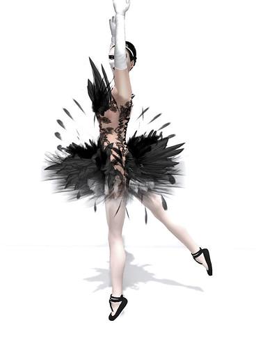 black swan ballerina costume. lack swan ballerina costume. lack swan ballerina costume. Skin: [FC] Nina