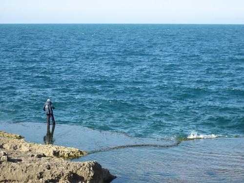Fisherman on Mediterranean