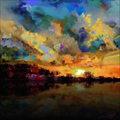 Heartfelt Setting (flynryon) Tags: new light painterly texture digital painting landscape paint canvas oil impressionism abstraction ryon fingerpainted iphone simulated layered scumble iphoneart paintbook fingerpaintedit flynryon httppaintbookcaflynryon iamda