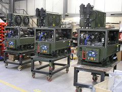 3 Saab generators on the production line at HGI