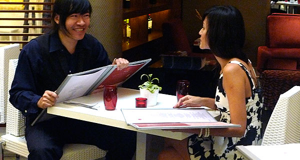 Steven Lim on a date with Holly Jean