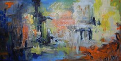 Sanctuary (Teresa Fortsch) Tags: abstract outsider mixedmedia expressionist naive connecticutartist teresafortsch