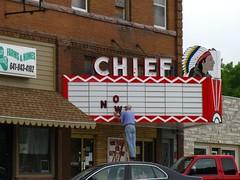 Britt, Iowa (Jasperdo) Tags: cinema marquee theater theatre roadtrip iowa britt movietheater chieftheater hobomuseum