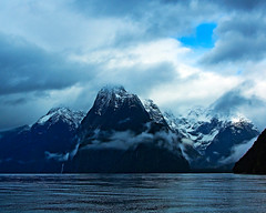 Milford Sound on a Cloudy Day (Aussie Shutterbug) Tags: newzealand water clouds overcast nz sound milfordsound mitrepeak wow1 35faves mygearandme mygearandmepremium mygearandmebronze mygearandmesilver mygearandmegold