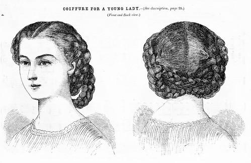 1860s hair