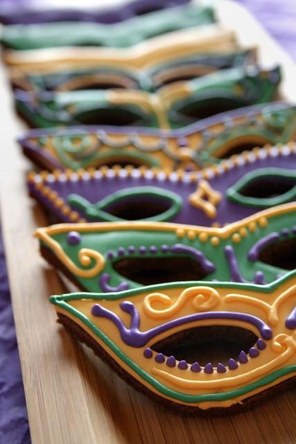 Mardi Gras Cookies.