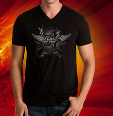 """Angels"" Feast of Fun T-Shirt, Black / Dark Silver"