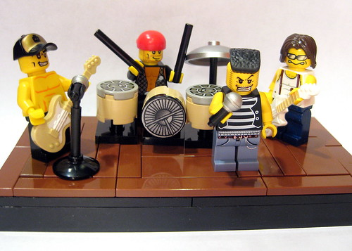 Custom minifig Lego Rock Band custom minifigs