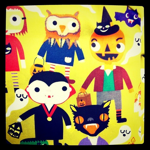 My Paper Crane Halloween Fabric!