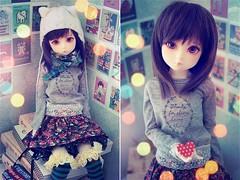sweetheart (Cyristine) Tags: cute ball asian dami doll heart sweet adorable kawaii neko bjd msd jointed elfdoll
