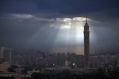 Burj Al-Qhira (Cairo - Egypt) (Kaptah) Tags: africa city sky storm building tower sol canon landscape eos day torre edificio egypt ciudad paisaje cairo cielo 5d egipto markii zamalek frica raylight gezira burgalqhira mygearandme burjalqhira
