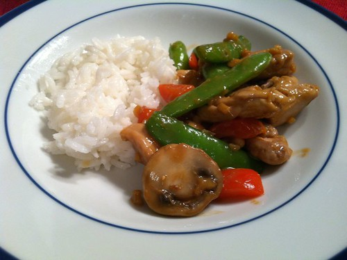 Chicken, Snap Pea and Cashew Stirfry