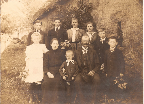 Simanek Family Photo - Předmíř, Czechoslovakia