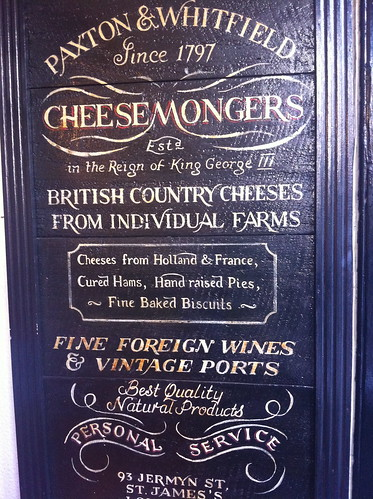 cheese mongers paxton & Whitfields