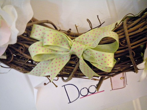 The bow on my Easter Wreath