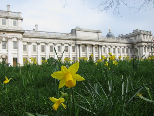Springtime arrives at the Old Royal Naval College in Greenwich