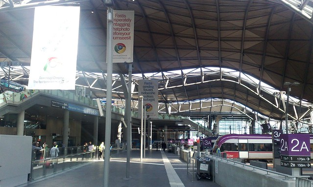 Google Chrome advertising at Southern Cross Station, Melbourne