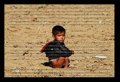 Destitute (Sanjeev Syal) Tags: poverty boy portrait food india face naked children pain child faces poor pass expressions agony soil hunger punja