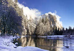 El Capitan in winter morning light (Yosemite National Park) (Robin Black Photography) Tags: california winter snow reflection ice landscape nationalpark rocks ngc explore valley yosemite granite yosemitenationalpark elcapitan naturalwonder nationaltreasure naturesbest winterwonderland nationalgeographic mercedriver elcap explored fantasticnature outdoorphotographer canon5dmarkii robinblackphotography photocontesttnc11