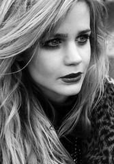 (dreamwhile) Tags: portrait fashion female sadness intense february gaze blackwhitephotos