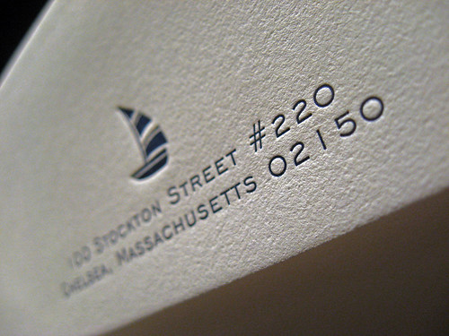 Hamptons Letterpress Save the Date