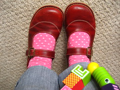 New Shoes (Attic24) Tags: red feet shoes mary janes